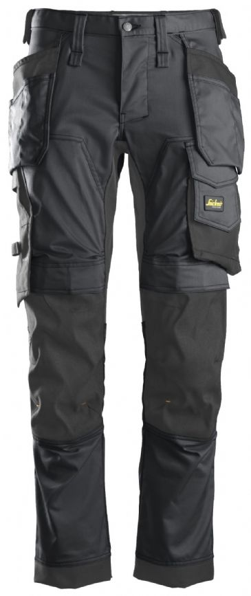 Snickers 6241 AllroundWork Stretch Work Trousers with Holster Pockets (Steel Grey/Black)